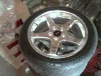 2001 mustang cobra stock chrome wheels and tires. Tires