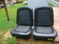 65 or 66 mustang seats, front bucket seats. black in