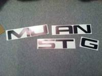 'MUSTANG' bumper stickers in shiny black! Just bought,