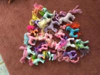 I have nine collectable My Little Ponies, ten assorted