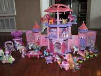 Entire Lot of My Little Pony Castle Collection.