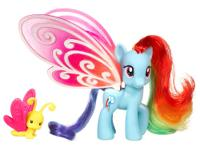 This beautiful blue My Little Pony RAINBOW DASH pony