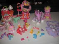 My Little Pony ~ Ponies lot of 2 Big Plush with sound,