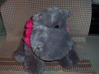 My Pawfect Bear - Plush Gray Hippo Hippopotamus - Soft