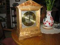New Myrtlewood Mantel Clock....Hand Crafted...15in.