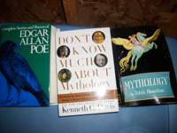 Two mythology books and full Edgar Allen Poe Poetry and