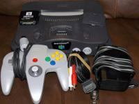 Nintnedo 64 console for sale   includes:  power