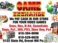 Cash for your games . Just bring them in