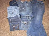 Size 12/14 girls and size 0 junior namebrand jeans;