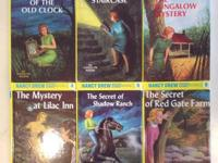 These books are in Excellent condition.  The titles of