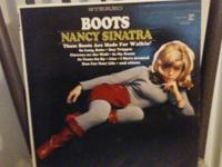 "This ad is for Nancy Sinatra ""Boots"", LP (33r.p.m.)"