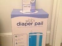 Ubbi Diaper pail - blue colour - include extra refill
