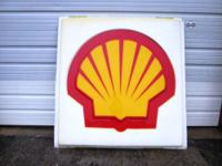 Shell Logo Sign, made of polycarbonate. 5'x5'Please