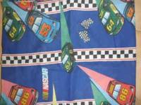 This is a set of full size Nascar kids bedding.