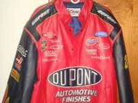 We have this beautiful Nascar Red Leather Jacket that