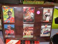 Nascar Photos on nice Plaque. $12.50 cash only.