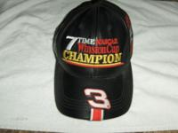 NASCAR Leather Hat with Adjustable Strap- Dale