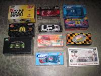 FORSALE LOT OF 11 1/24 SCALE DIECAST REPLICA NASCARS