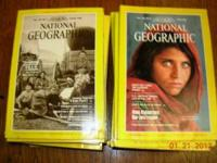 57 assorted National Geographic magazines spanning 1977