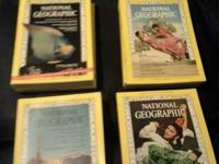 I have 20 issues of National Geographic.  All in good
