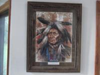 I have for sale a very nice matted and framed Native