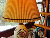 Native American table light. Base is made from