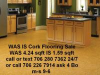Natural Cork Flooring WAS IS SALE WAS 4.24 IS 1.59