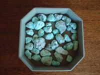 Natural Rough Turquoise Stones-- mined in 1970's!  I