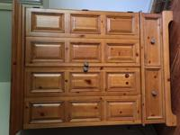 Beautiful natural wood armoir / media cabinet for sale.