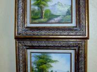 Both are signed by the artist. Wonderful oils done in