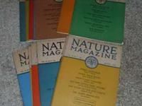 14 Nature Magazines published in 1934 and 1935 by The