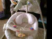 Just like new cradle swing pet free smoke free home