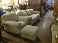 Natuzzi Suede Leather Living RoomSofa, Chair and