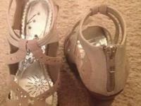 Naughty Monkey heels, excellent condition, zip up back,
