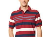 A classic polo gets horizontal in this striped Nautica