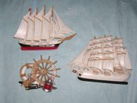 Selling three pieces of nautical decor - 2 ships and a