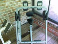 Used - adjustable height abdominal workout unit. $65