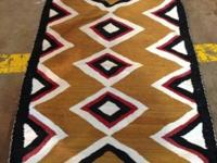 "Navajo Hand-Woven Rug Saddle Covering. 1970's. 2'8"" x"