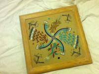 Gorgeous Authentic Navajo sand painting from 1993.