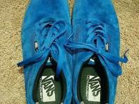 Vans Mens Lindero Sneakers Worn Twice Royal Blue