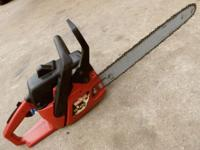 Excellent - {{Sears 18-In. Gas Chainsaw, W/Case}} -