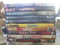 10 Nearly new dvd movies, good condition $20 takes all.