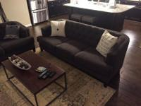 Selling a gray sofa and love seat for $625 OBO. Couches