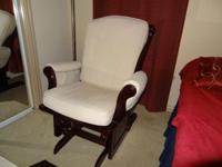 Babies R Us like new rocking chair and ottoman for