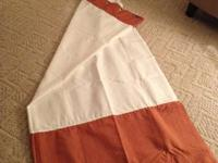 Nearly NEW: Orange and white SHOWER CURTAIN RE