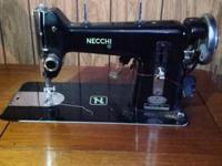 Vintage Working Italian Necchi BF Nova Industrial