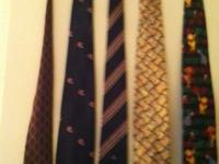 I have a large bunch of neck ties for sale. Recently