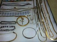 Collection of jewelry about 58 necklaces 27 bracelets