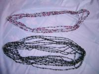 CRYSTAL NECKLACES ---- over the head black and clear