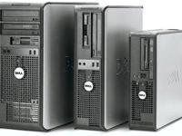 We have various Dell and HP Desk tops and laptops. All